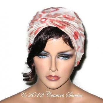 Orange Bursts Twist Fashion Turban Handmade